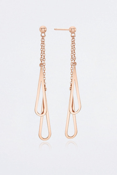 Double Chain Drop Earring (문별 착용)